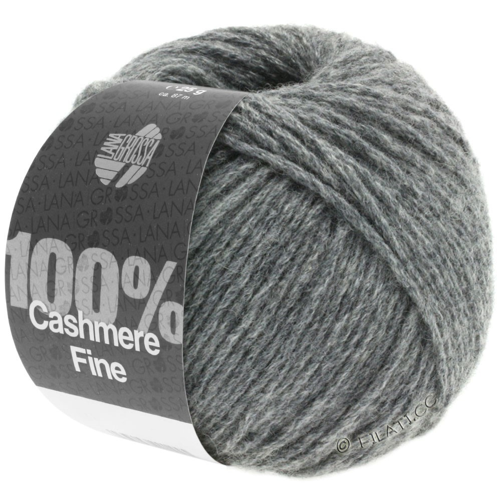 Lana Grossa 100% Cashmere Fine | 04-Dunkelgrau
