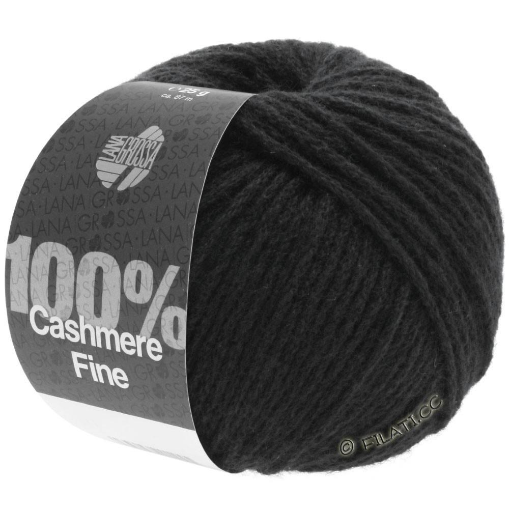 Lana Grossa 100% Cashmere Fine | 17-Schwarz