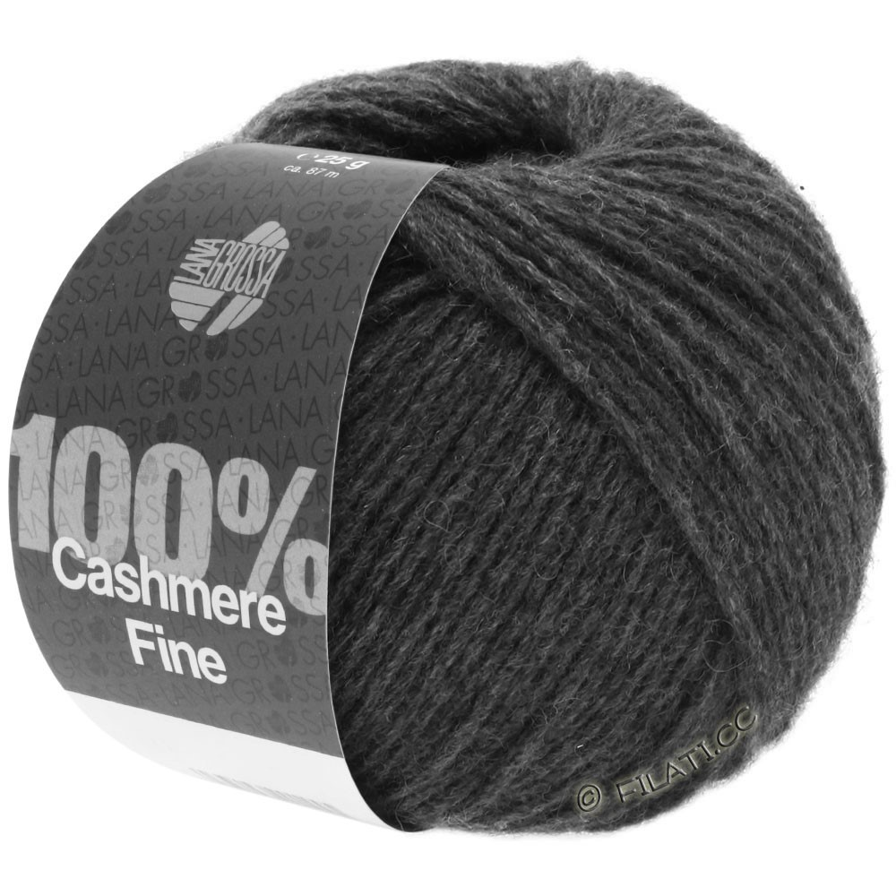 Lana Grossa 100% Cashmere Fine | 21-Anthrazit
