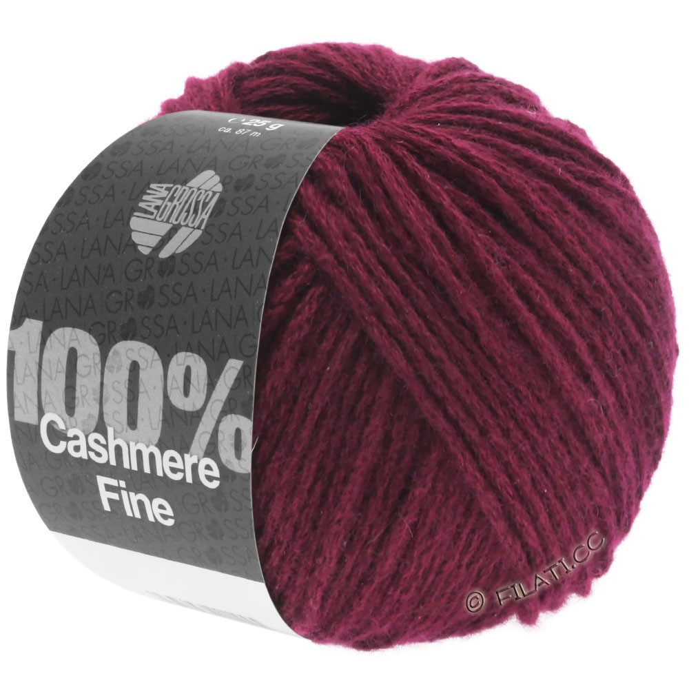 Lana Grossa 100% Cashmere Fine | 24-Burgund