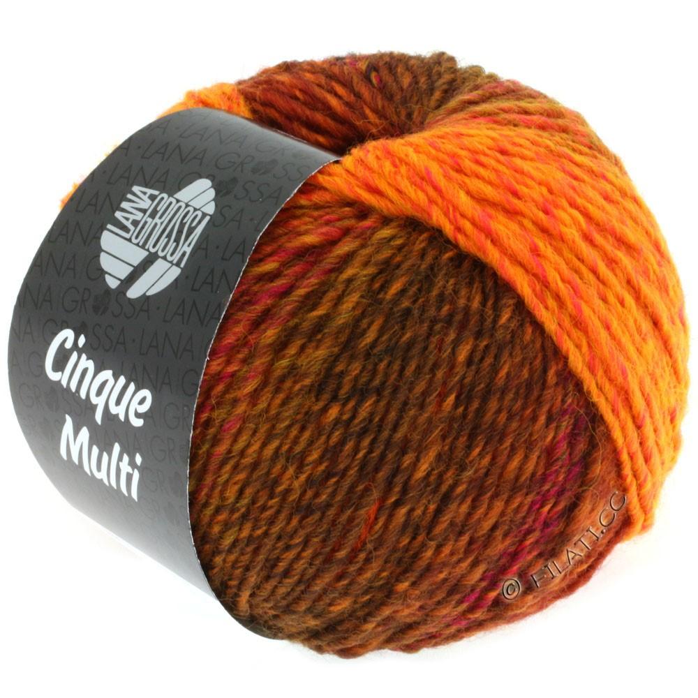 Lana Grossa CINQUE MULTI | 03-Rot/Orange/Pink/Burgund meliert