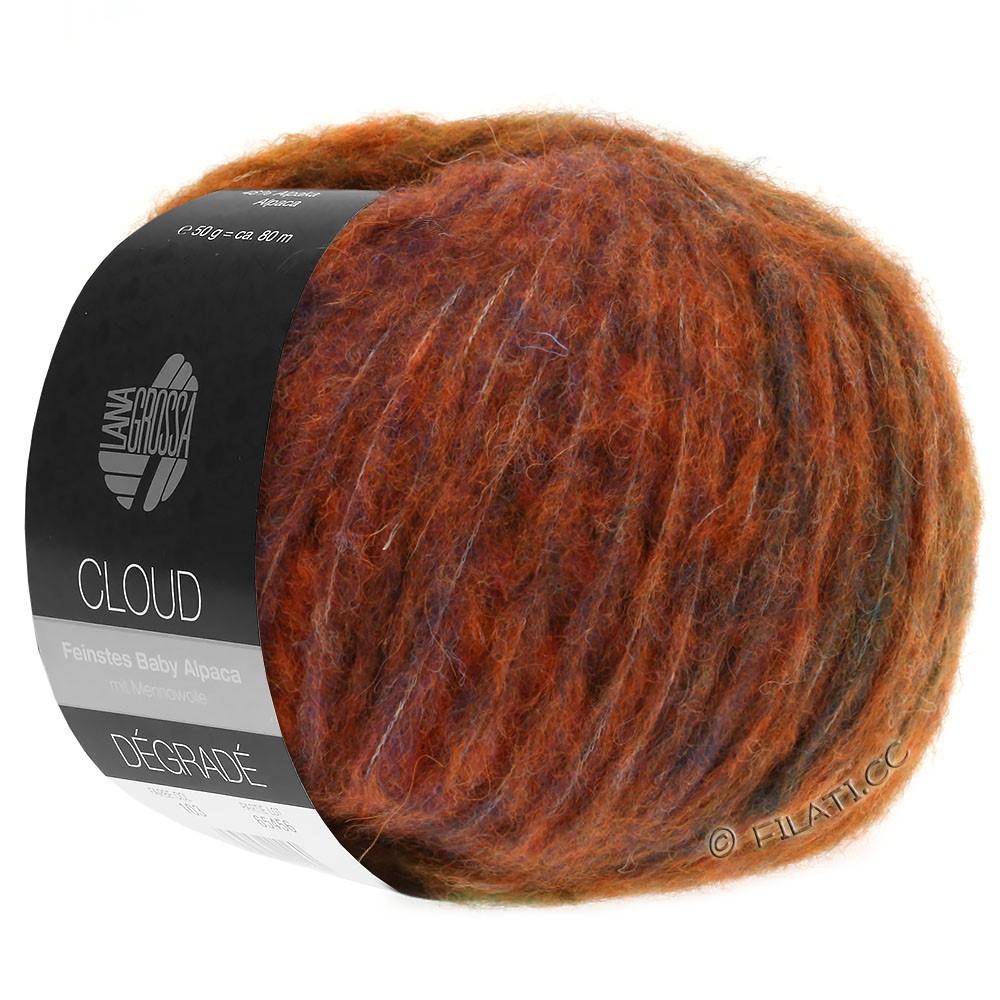 Lana Grossa CLOUD Degradé | 103-Orange/Hellrot/Lila/Oliv