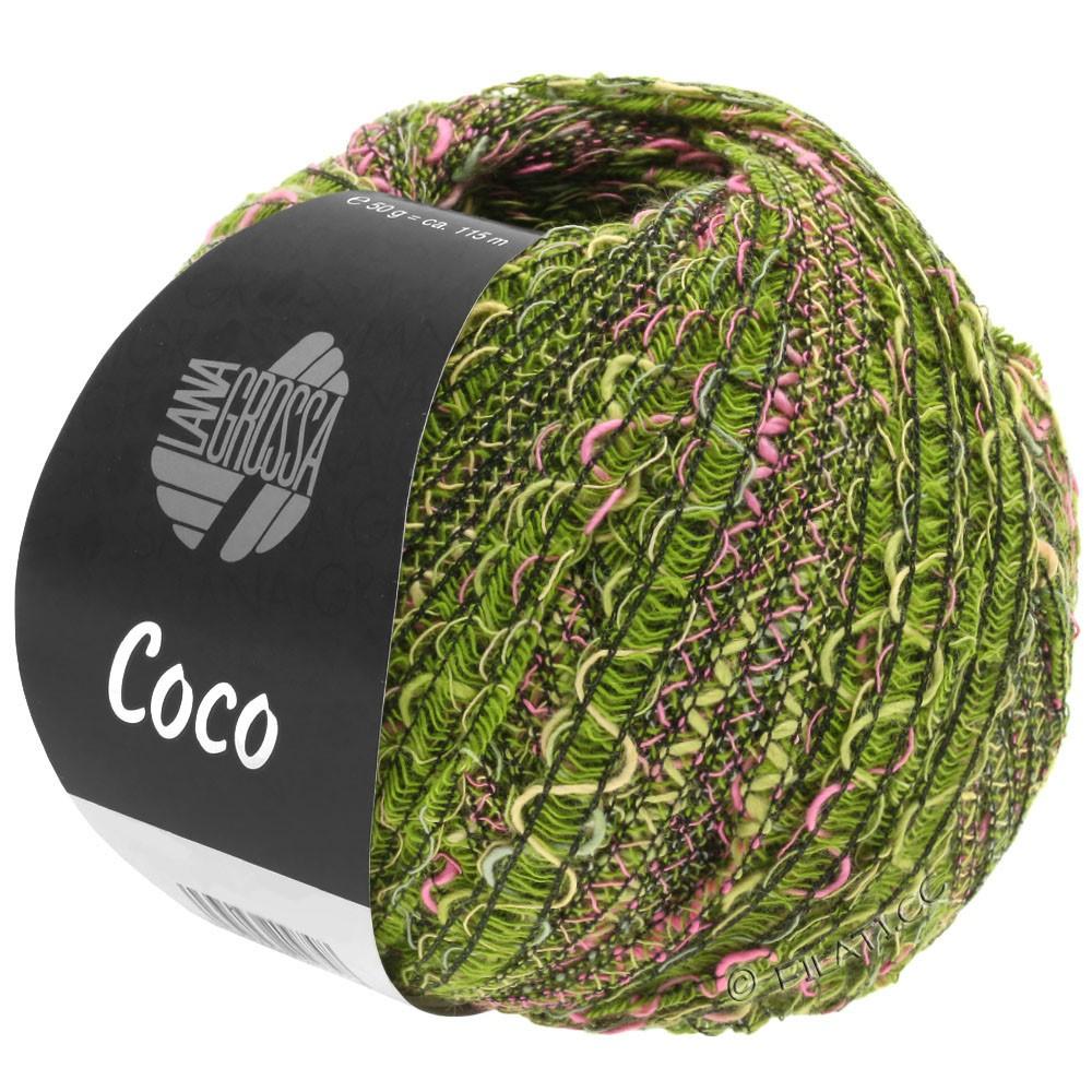 Lana Grossa COCO | 16-Oliv/Pink/Dunkelgrün