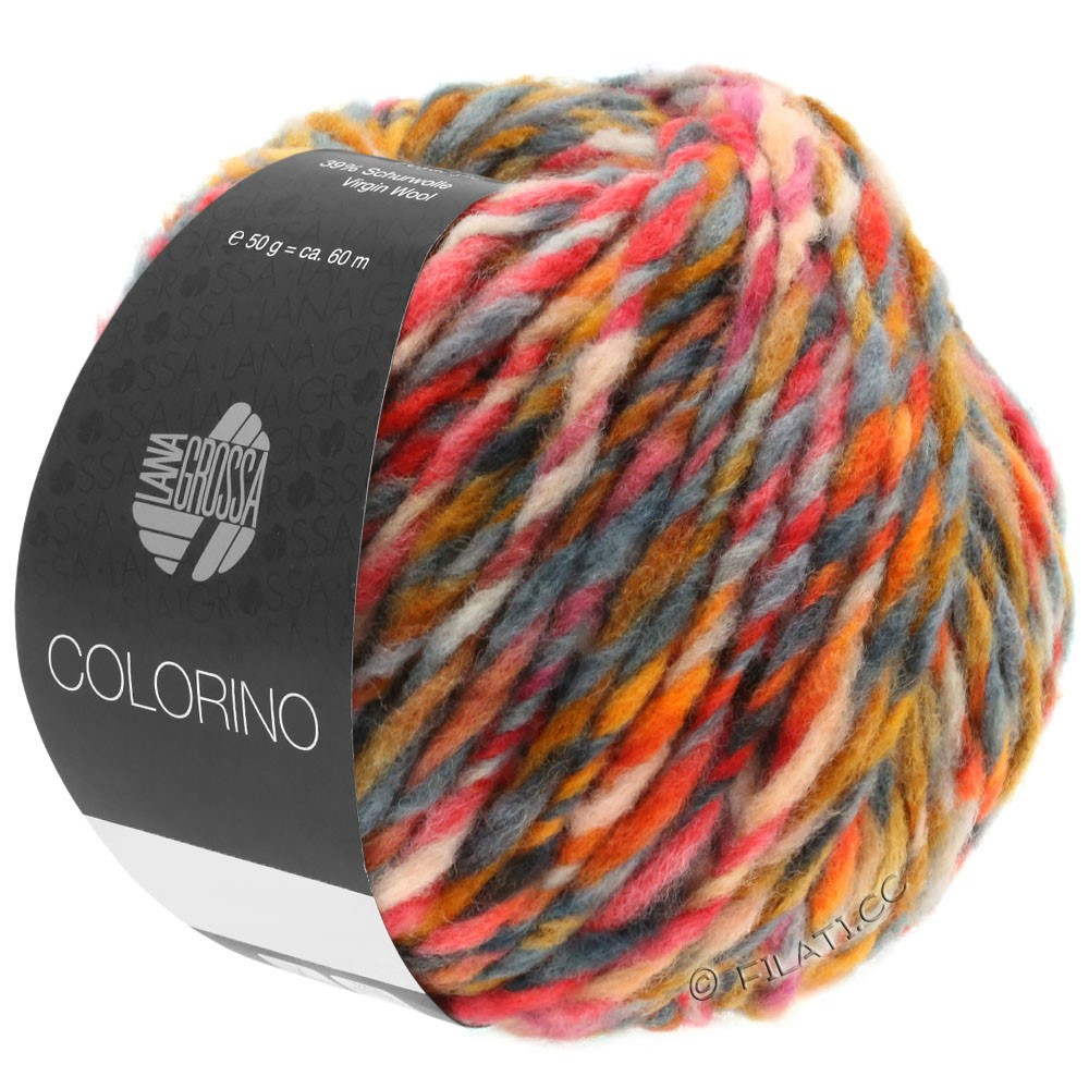 Lana Grossa COLORINO | 06-Orange/Camel/Dunkelbraun/Grau