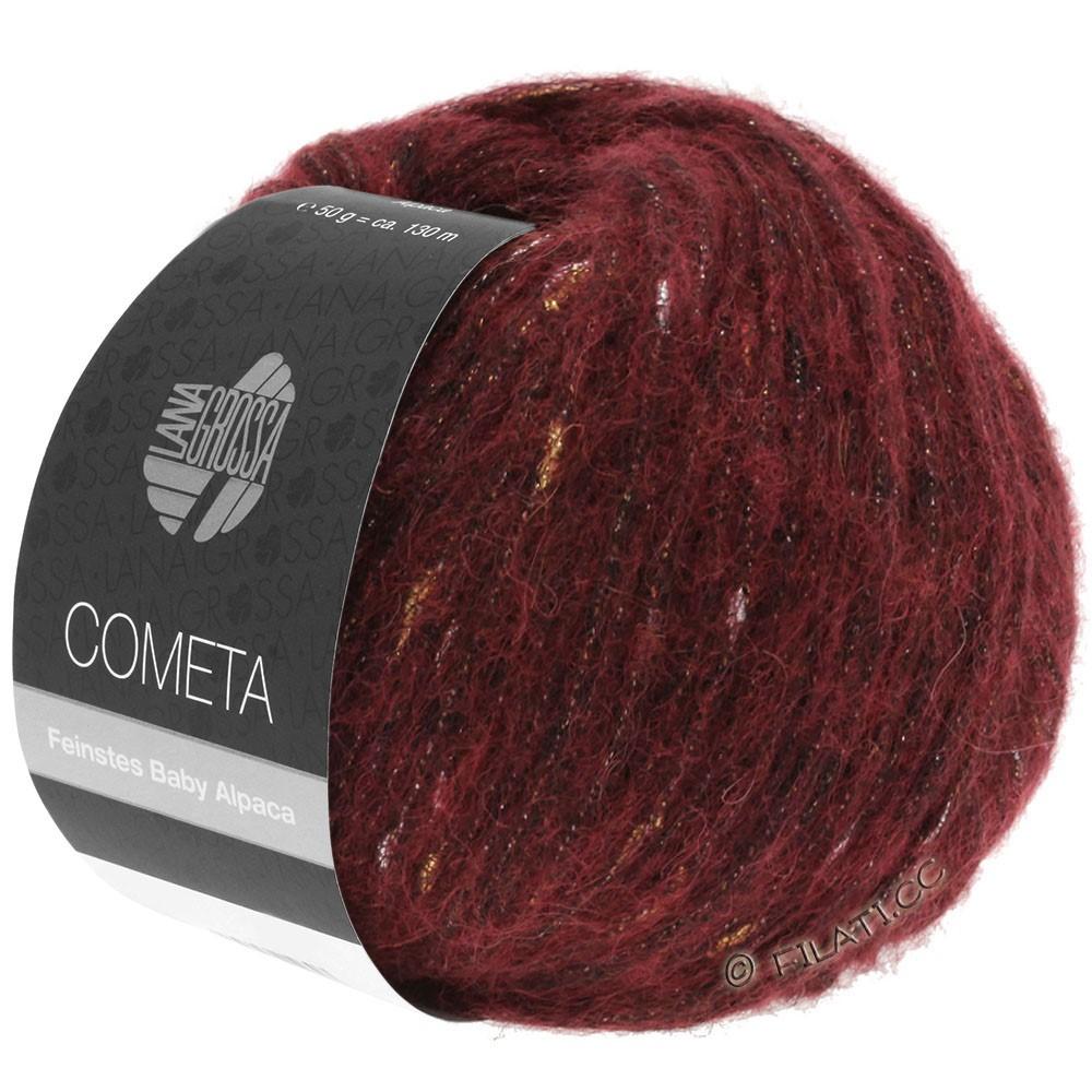 Lana Grossa COMETA   05-Dunkelrot/Gold/Silber