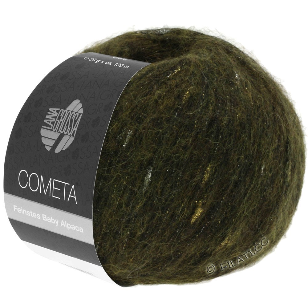 Lana Grossa COMETA   13-Khaki/Gold/Silber