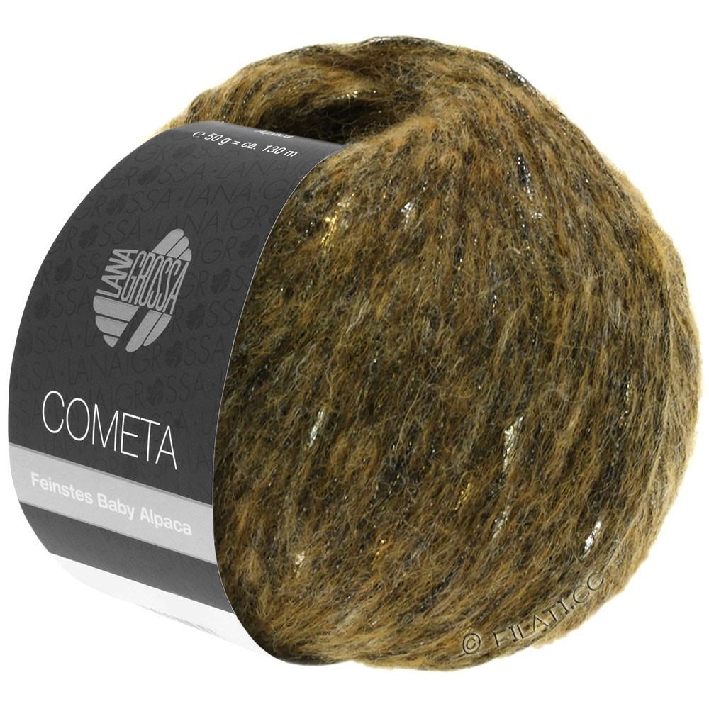 Lana Grossa COMETA   19-Oliv/Gold/Silber