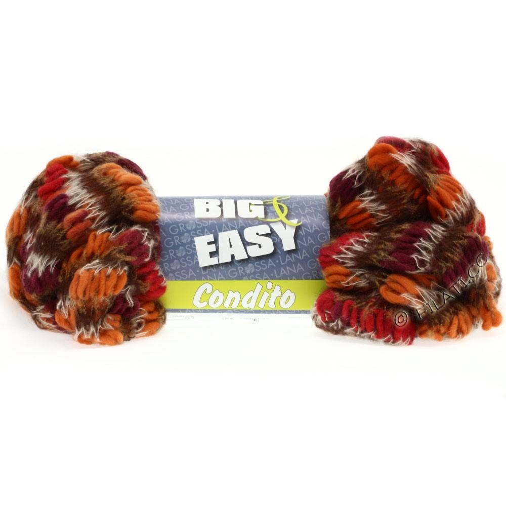Lana Grossa CONDITO 150g (Big & Easy) | 08-Orange/Rot/Bordeaux/Natur/Goldbraun/Mokka
