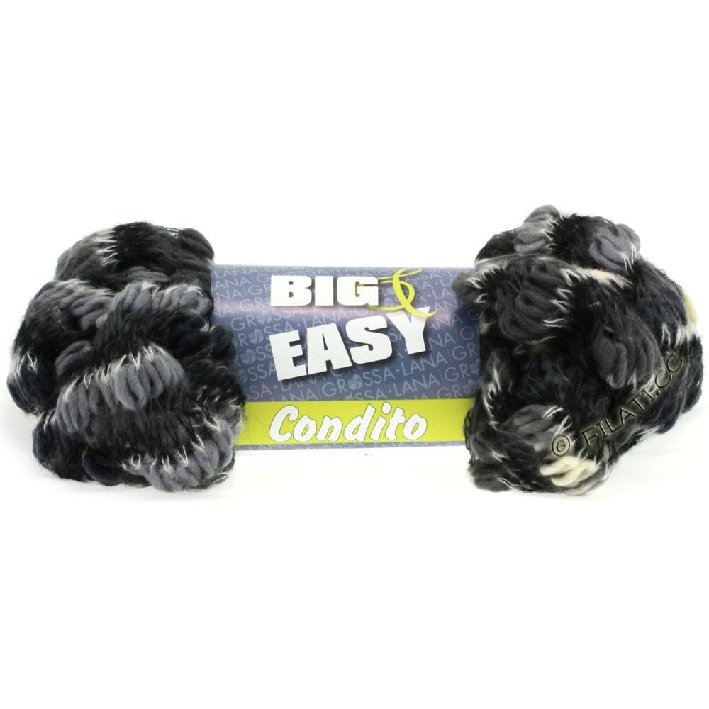 Lana Grossa CONDITO 150g (Big & Easy) | 10-Natur/Grau/Anthrazit/Schwarz/Weiß