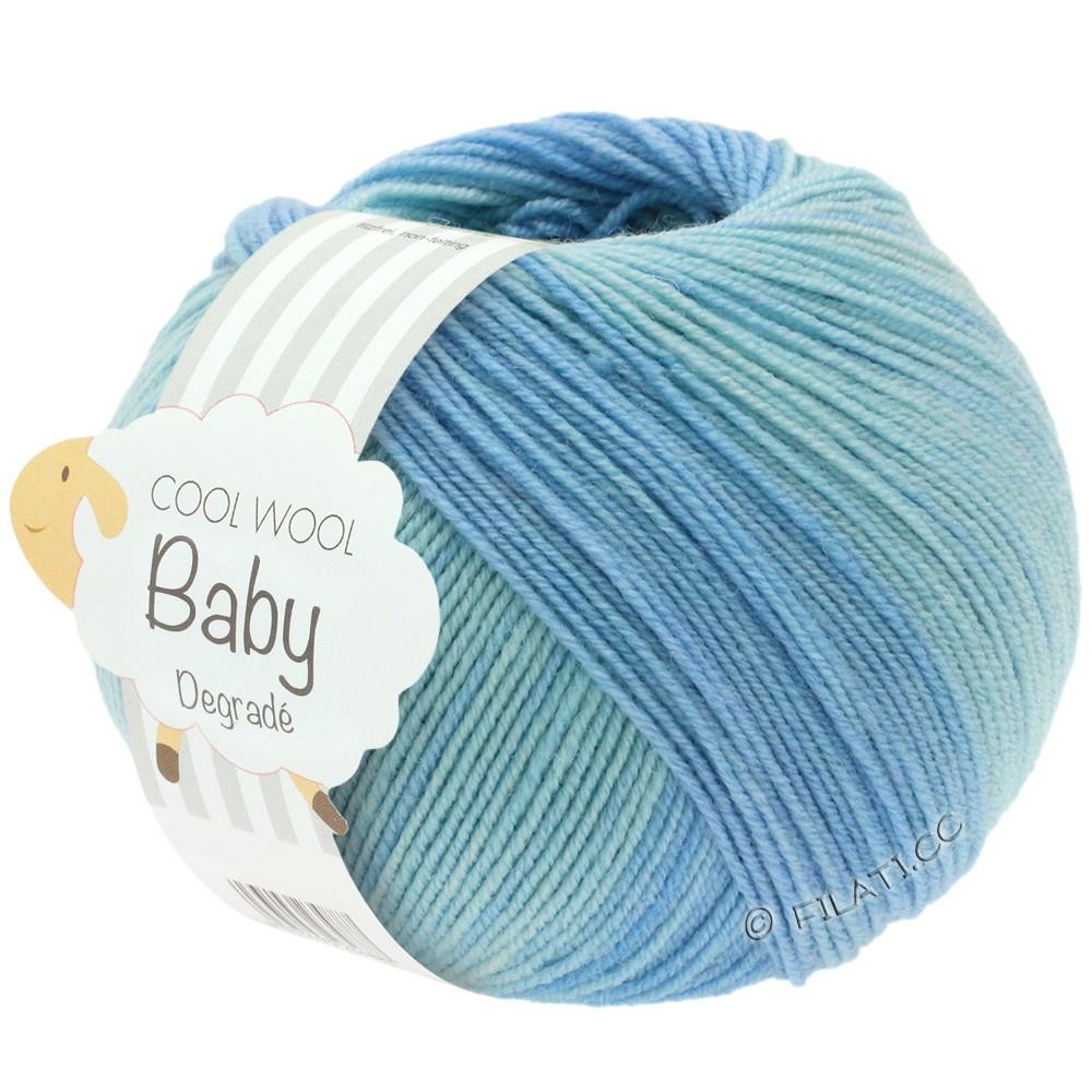 Lana Grossa COOL WOOL Baby Print/Degradé   503-Blassblau/Zartblau/Hellblau