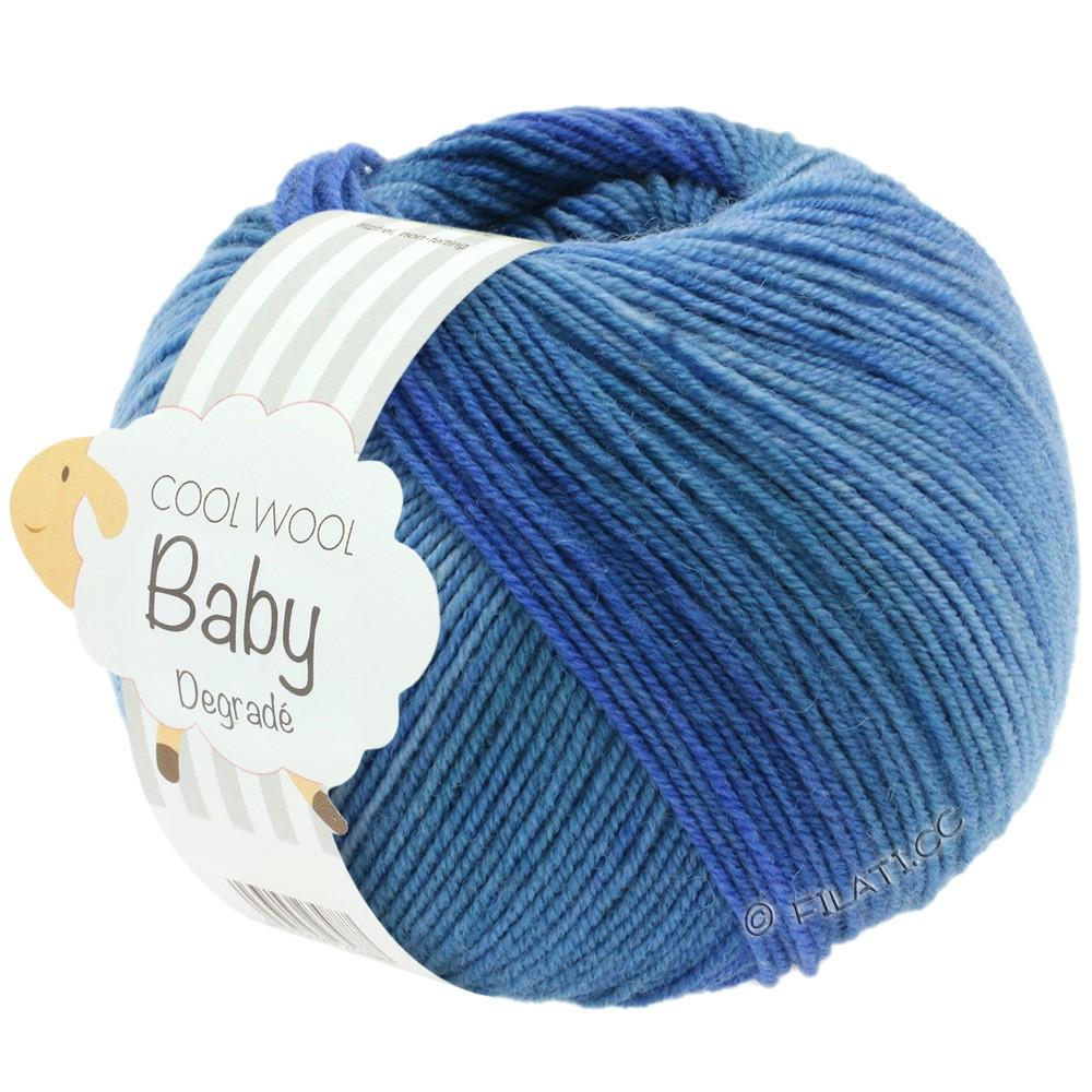 Lana Grossa COOL WOOL Baby Print/Degradé | 504-Jeans/Taubenblau/Veilchenblau