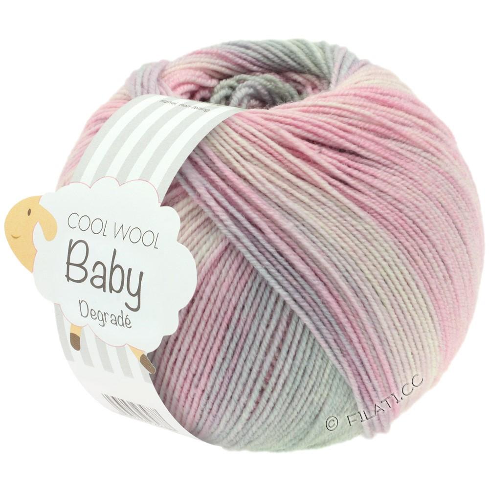 Lana Grossa COOL WOOL Baby Print/Degradé | 508-Zartrosa/Nelke/Hellgrau/Flieder