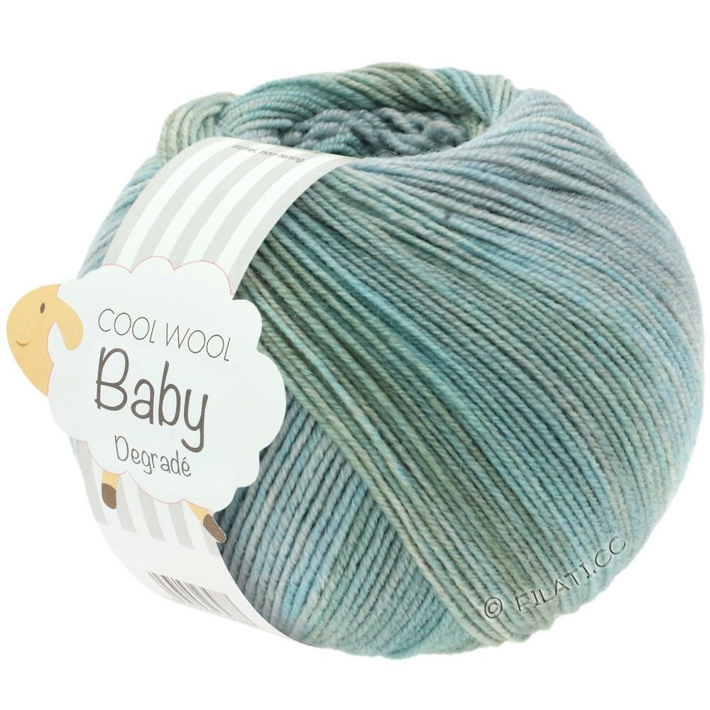 Lana Grossa COOL WOOL Baby Print/Degradé | 510-Hellgrau/Graugrün/Mint
