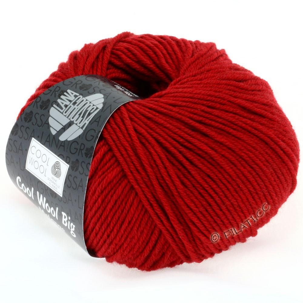 Lana Grossa COOL WOOL Big  Uni/Melange   0302-Rot meliert