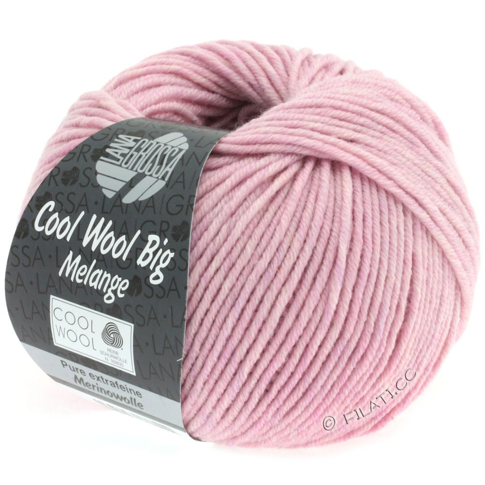 Lana Grossa COOL WOOL Big  Uni/Melange   0334-Rosa meliert