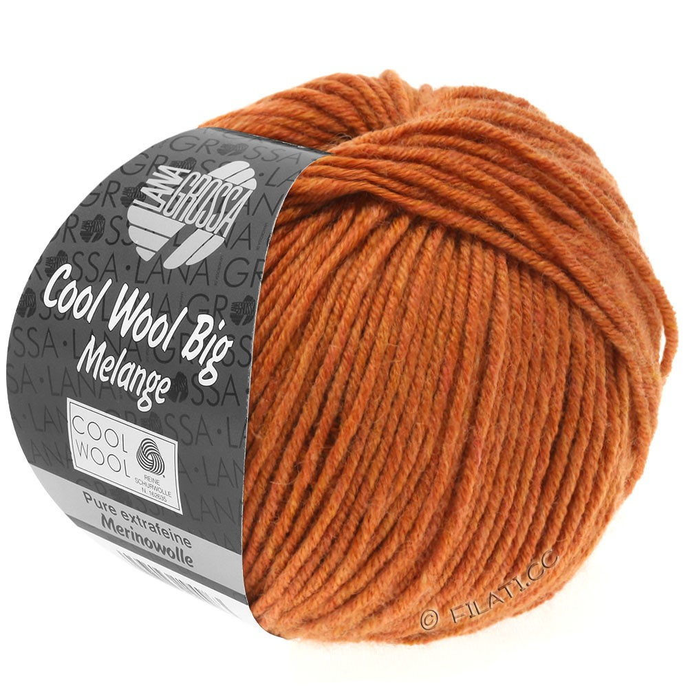 Lana Grossa COOL WOOL Big  Uni/Melange | 0348-Terracotta meliert