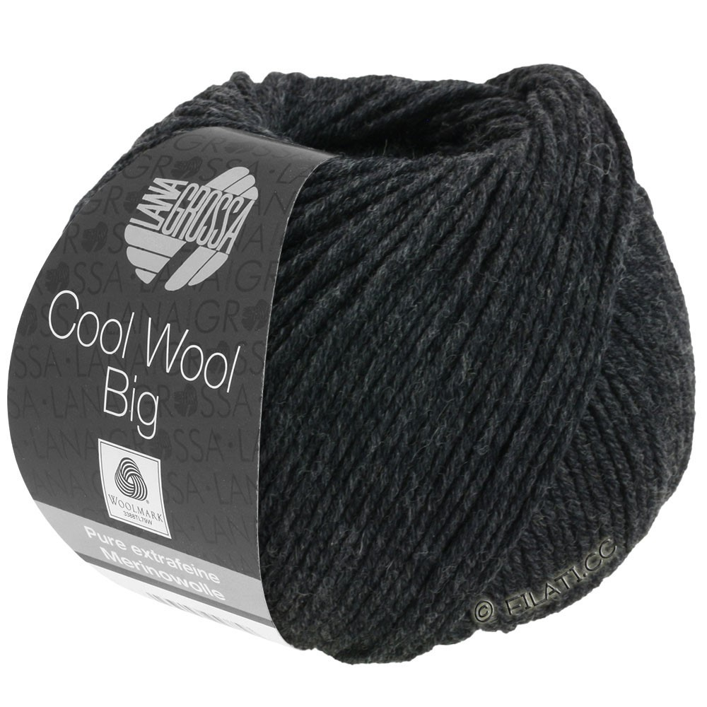 Lana Grossa COOL WOOL Big  Uni/Melange | 0618-Anthrazit