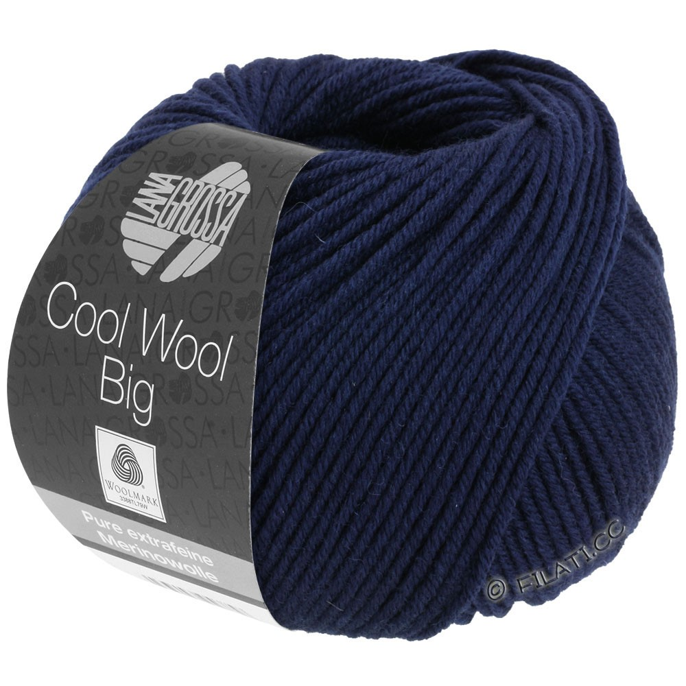 Lana Grossa COOL WOOL Big  Uni/Melange   0630-Nachtblau
