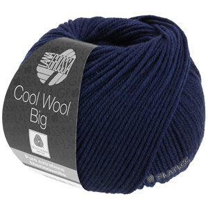 Lana Grossa COOL WOOL Big  Uni/Melange | 0630-Nachtblau
