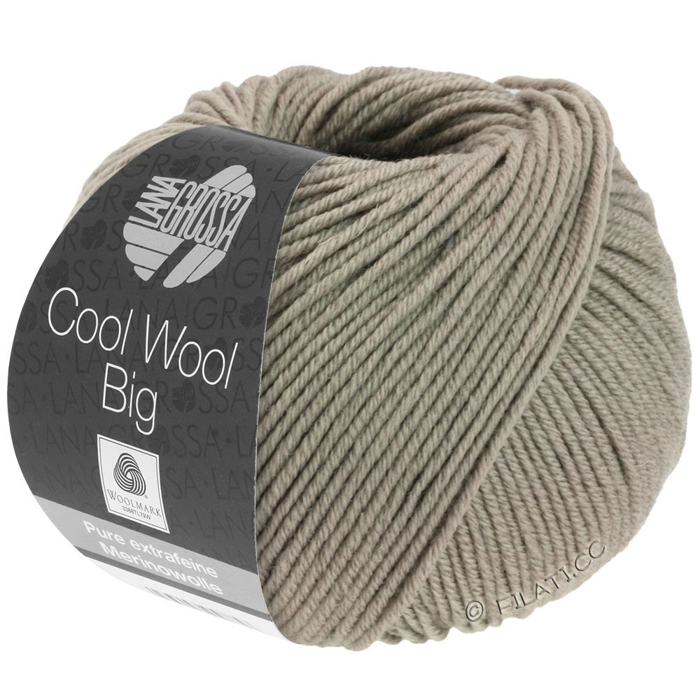 Lana Grossa COOL WOOL Big  Uni/Melange | 0686-Taupe