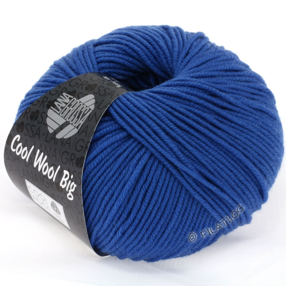 Lana Grossa COOL WOOL Big  Uni/Melange | 0902-Kobaltblau