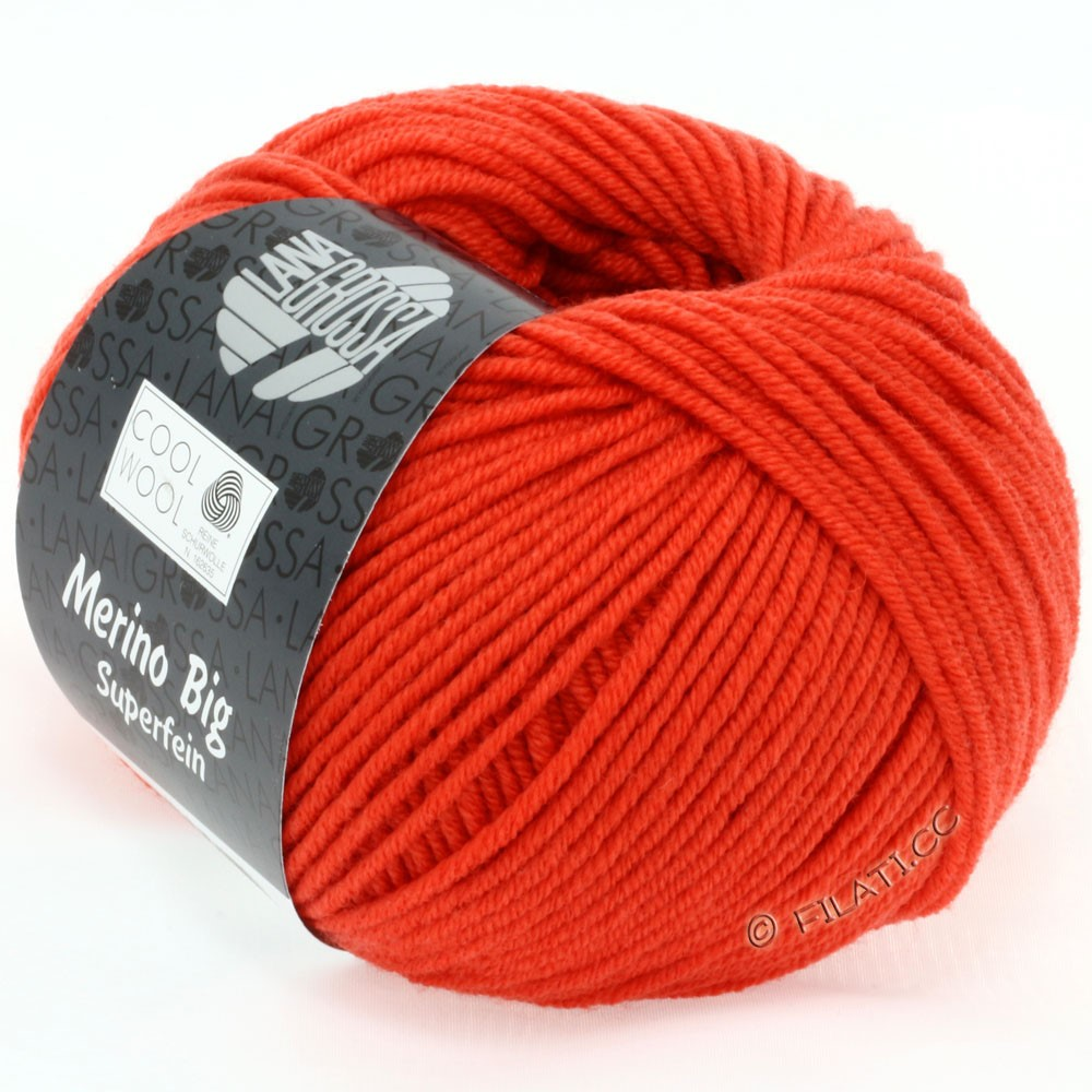 Lana Grossa COOL WOOL Big  Uni/Melange | 0905-Kürbis
