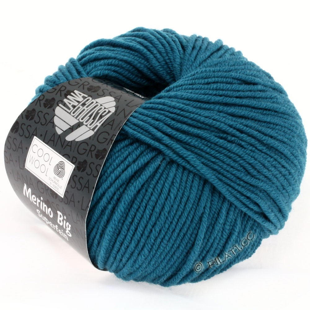 Lana Grossa COOL WOOL Big  Uni/Melange | 0919-Petrol