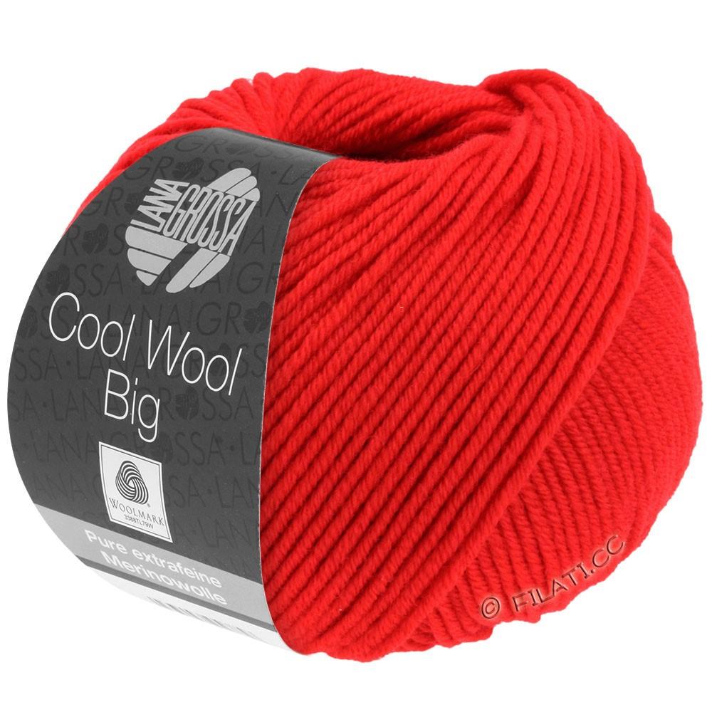 Lana Grossa COOL WOOL Big  Uni/Melange   0923-Leuchtendrot