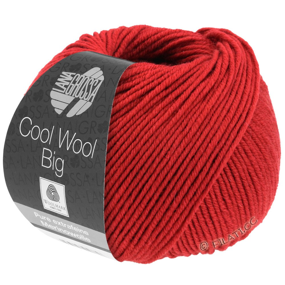 Lana Grossa COOL WOOL Big  Uni/Melange | 0924-Dunkelrot