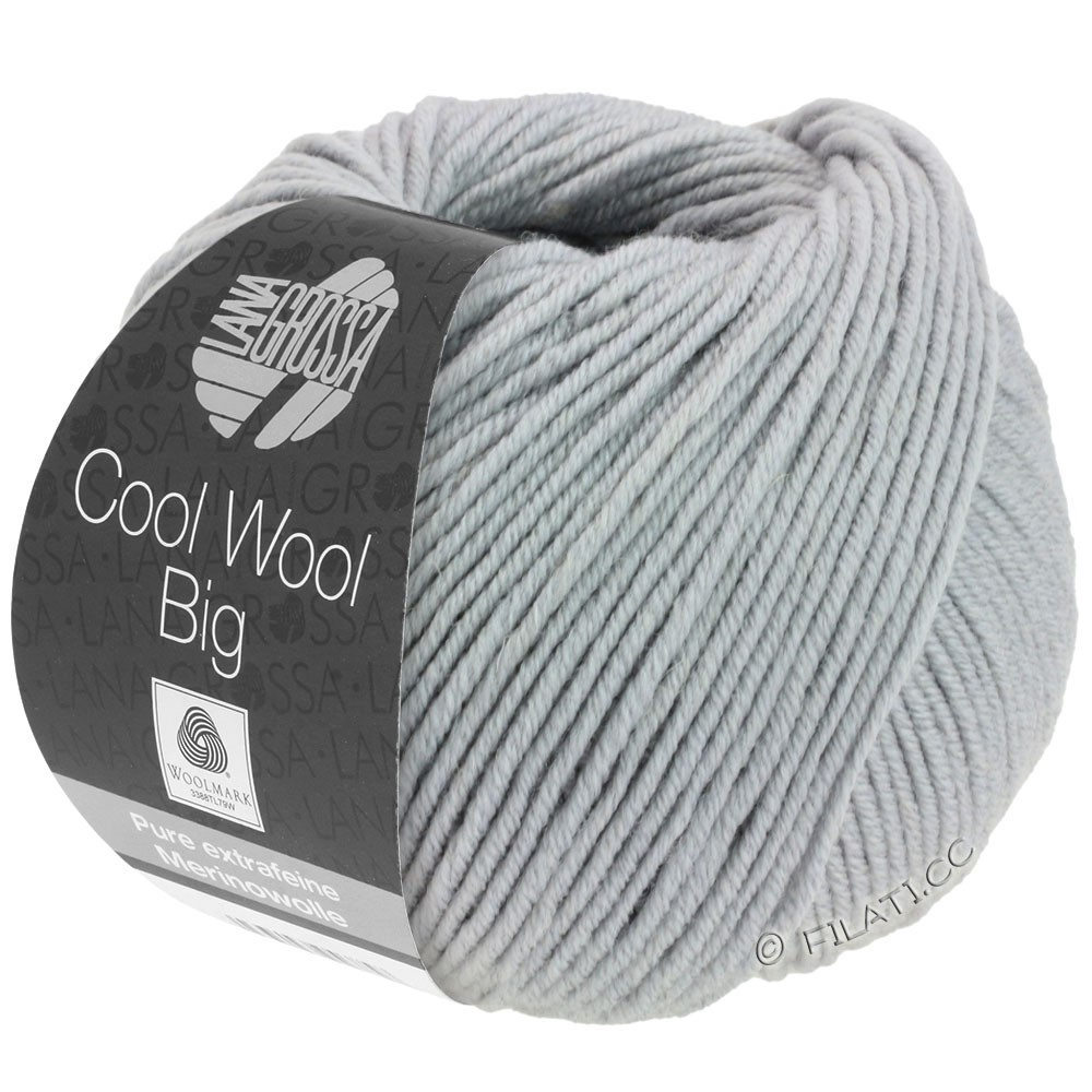 Lana Grossa COOL WOOL Big  Uni/Melange | 0928-Mittelgrau