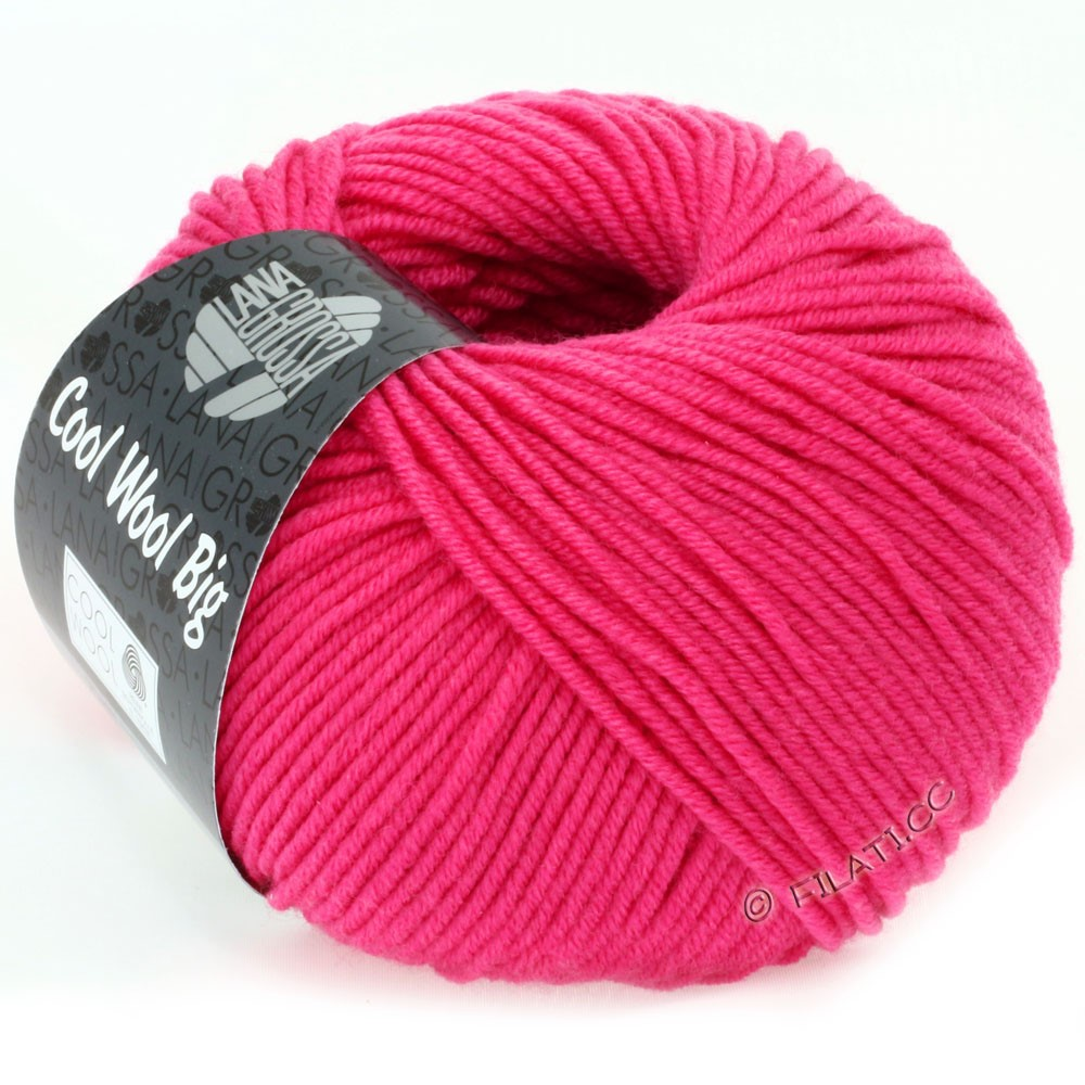 Lana Grossa COOL WOOL Big  Uni/Melange | 0938-Pink