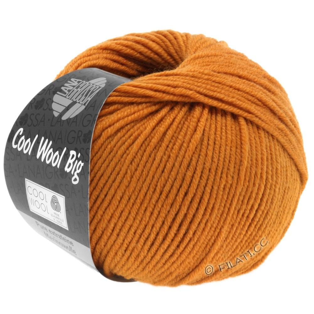 Lana Grossa COOL WOOL Big  Uni/Melange   0955-Orangebraun