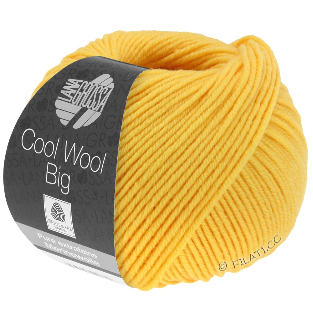 Lana Grossa COOL WOOL Big  Uni/Melange | 0958-Gelb