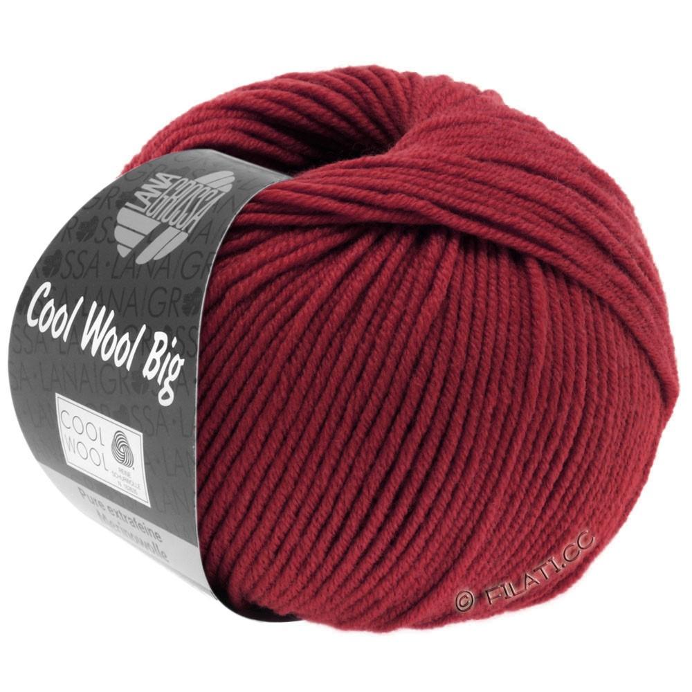 Lana Grossa COOL WOOL Big  Uni/Melange   0960-Weinrot