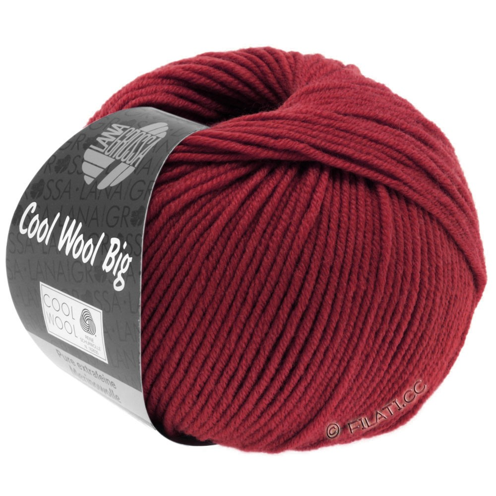 Lana Grossa COOL WOOL Big  Uni/Melange | 0960-Weinrot