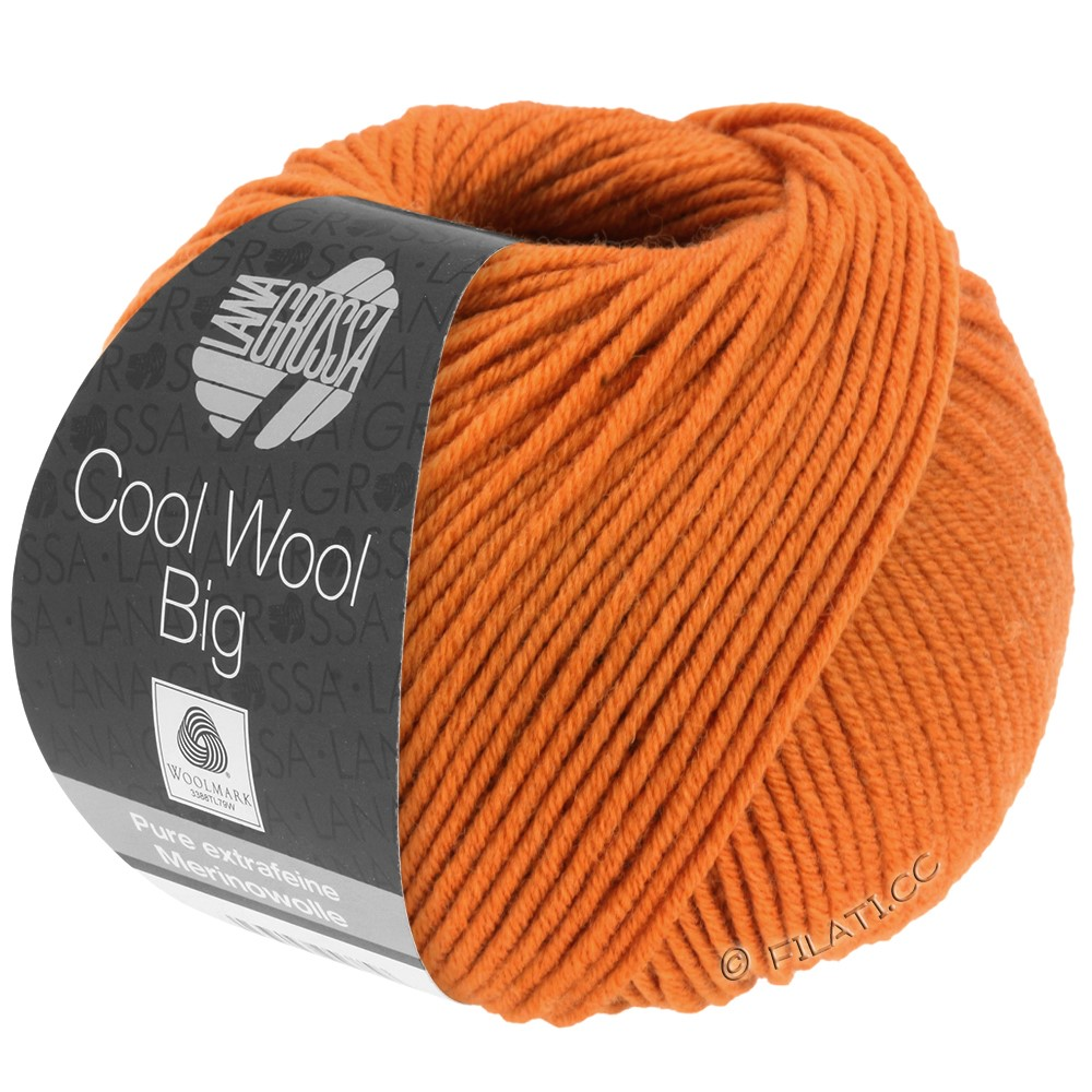 Lana Grossa COOL WOOL Big  Uni/Melange | 0970-Orange