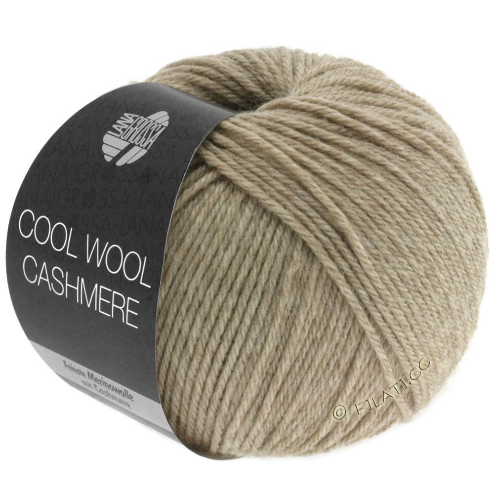 Lana Grossa COOL WOOL Cashmere   06-Taupe