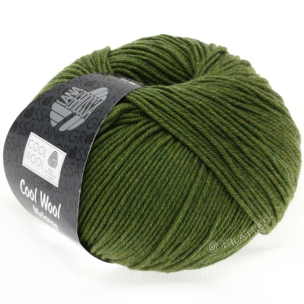 Lana Grossa COOL WOOL   Uni/Melange/Neon   0101-Olivgrün meliert
