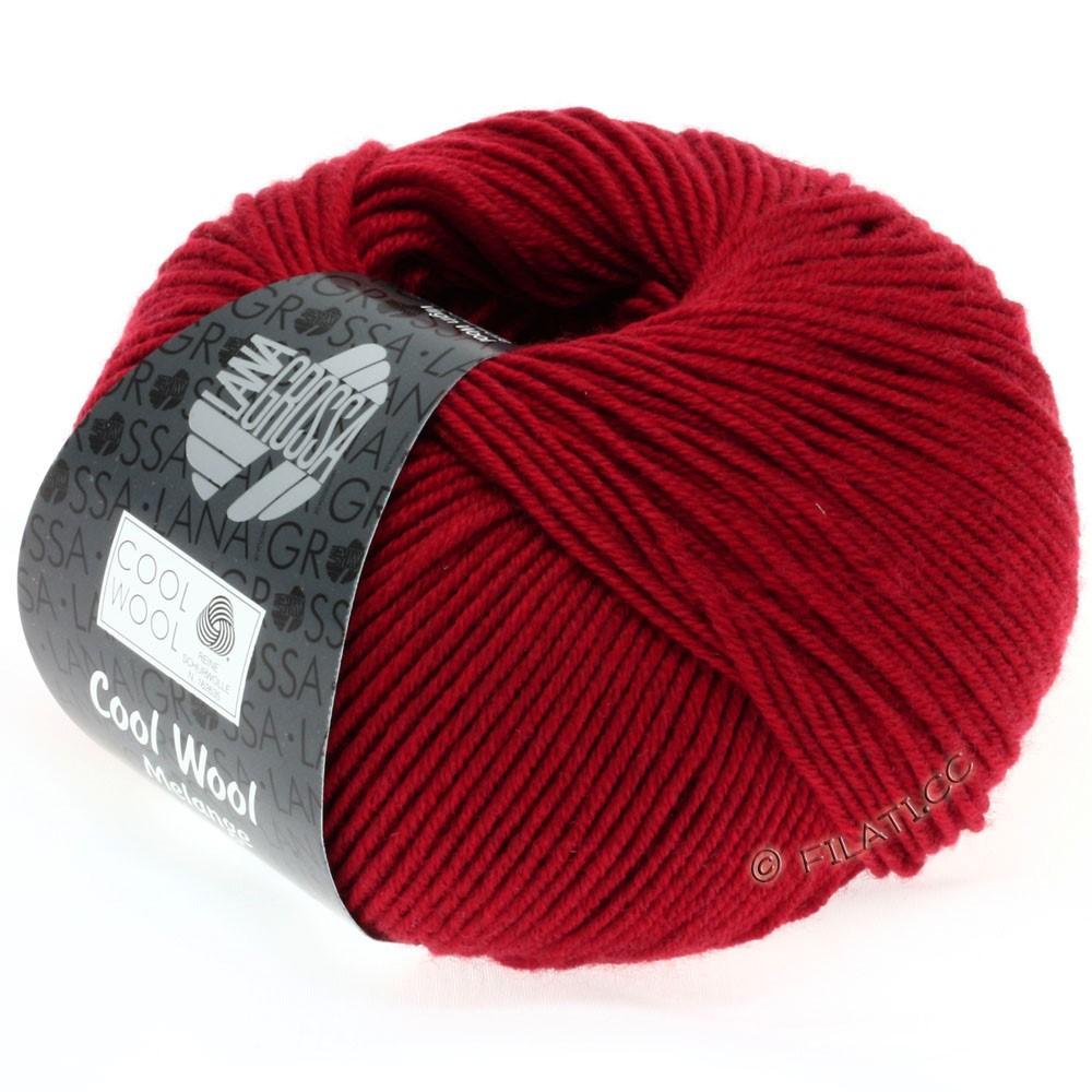 Lana Grossa COOL WOOL   Uni/Melange/Neon | 0102-Rot meliert