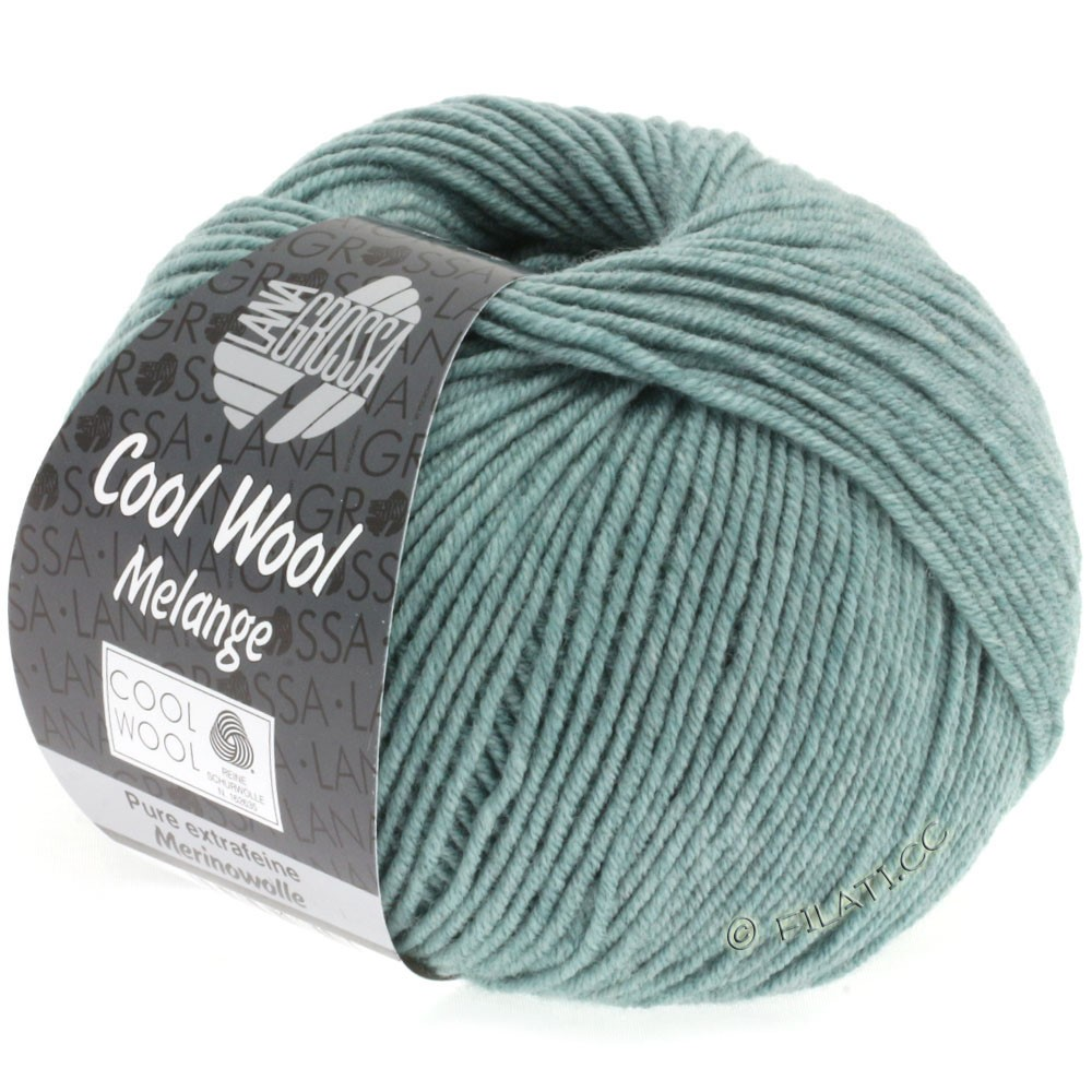 Lana Grossa COOL WOOL   Uni/Melange/Neon | 0132-Graugrün meliert