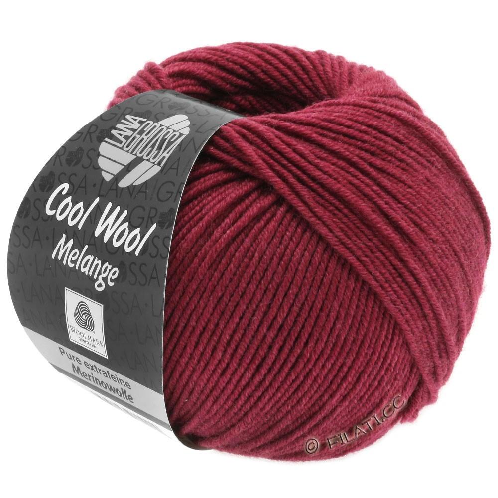 Lana Grossa COOL WOOL   Uni/Melange/Neon | 0142-Weinrot meliert