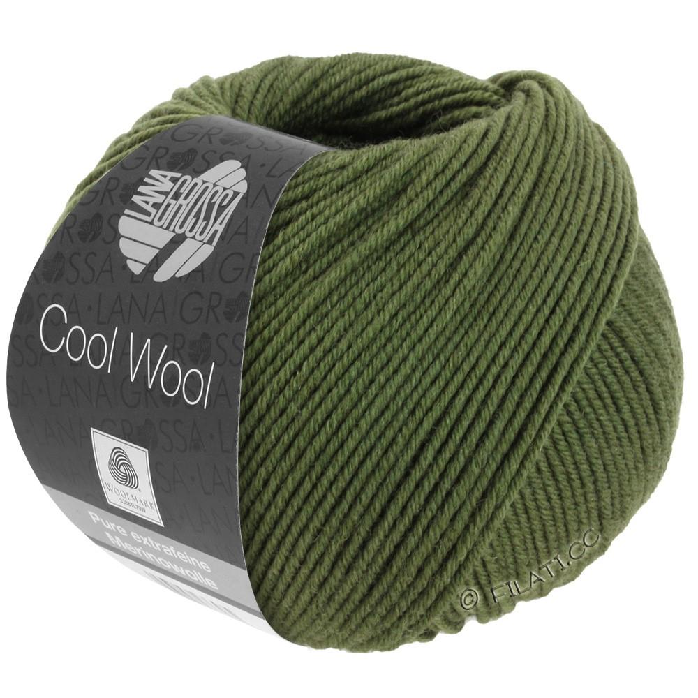 Lana Grossa COOL WOOL   Uni/Melange/Neon | 2042-Dunkeloliv