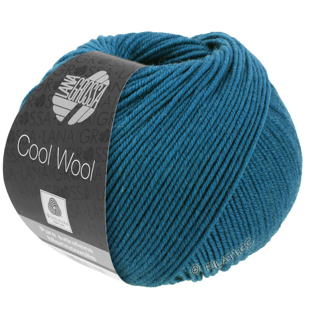 Lana Grossa COOL WOOL   Uni/Melange/Neon | 2049-Blaupetrol