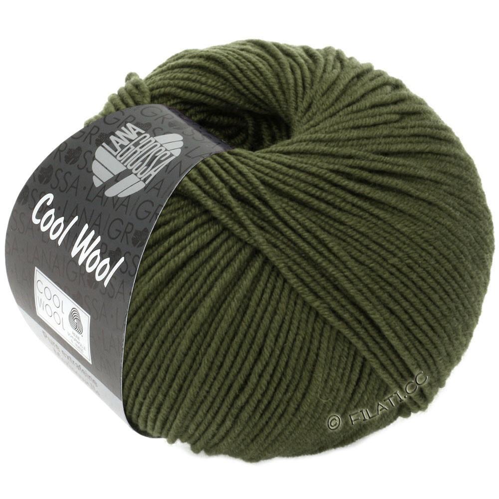 Lana Grossa COOL WOOL   Uni/Melange/Neon | 2051-Moosgrün