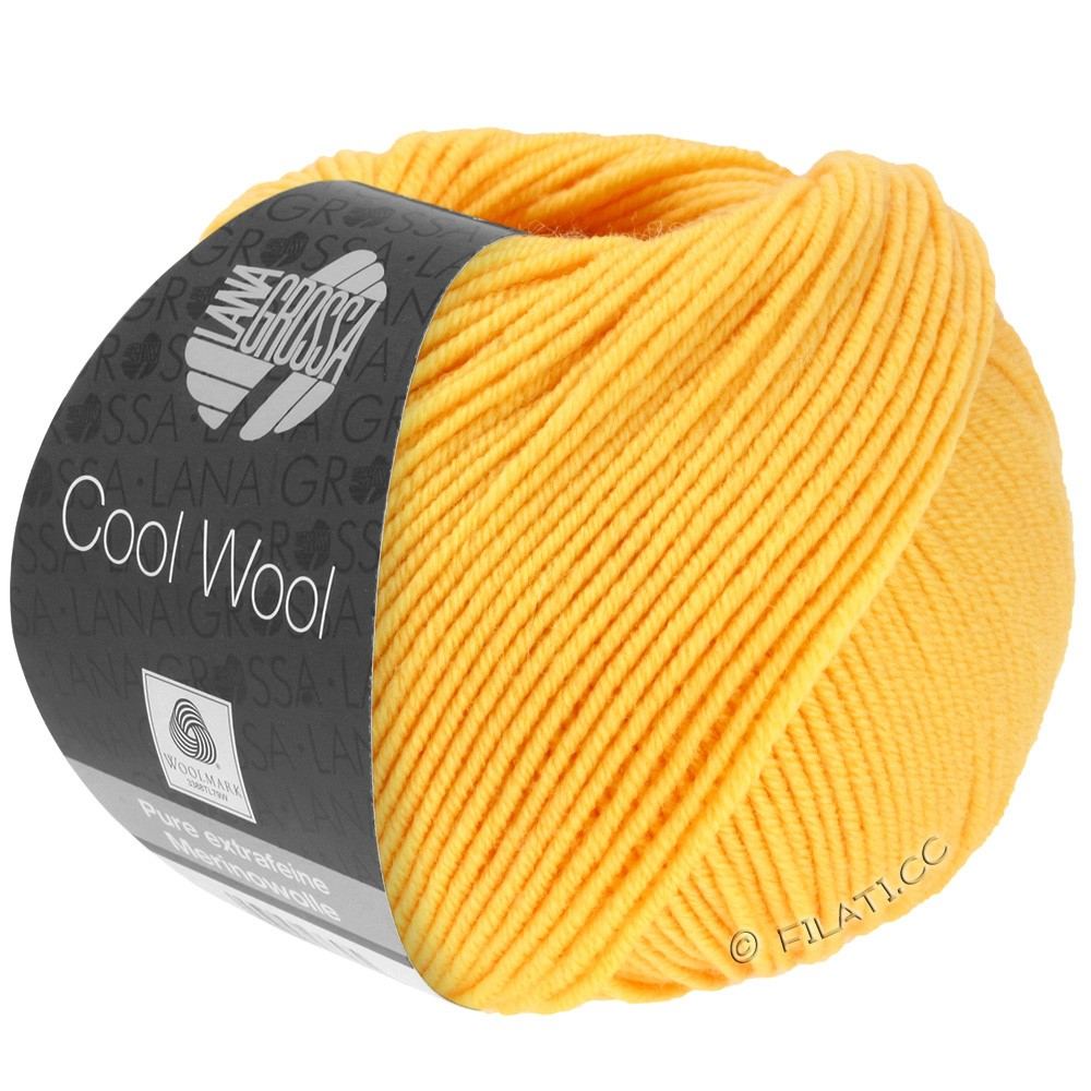 Lana Grossa COOL WOOL   Uni/Melange/Neon | 0419-Gelb