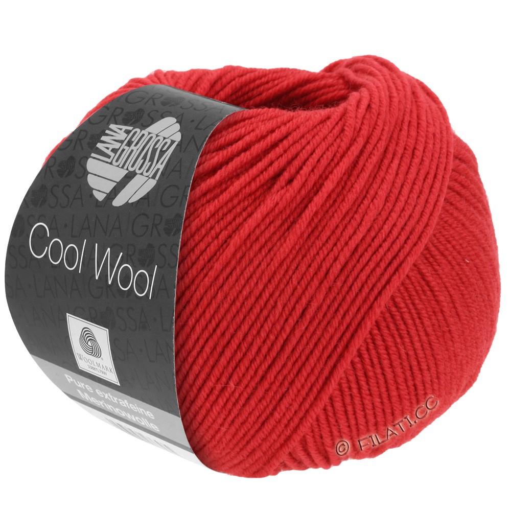 Lana Grossa COOL WOOL   Uni/Melange/Neon | 0437-Karminrot