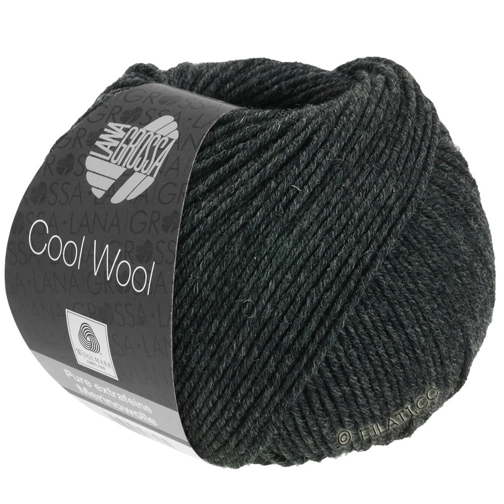 Lana Grossa COOL WOOL   Uni/Melange/Neon | 0444-Anthrazit
