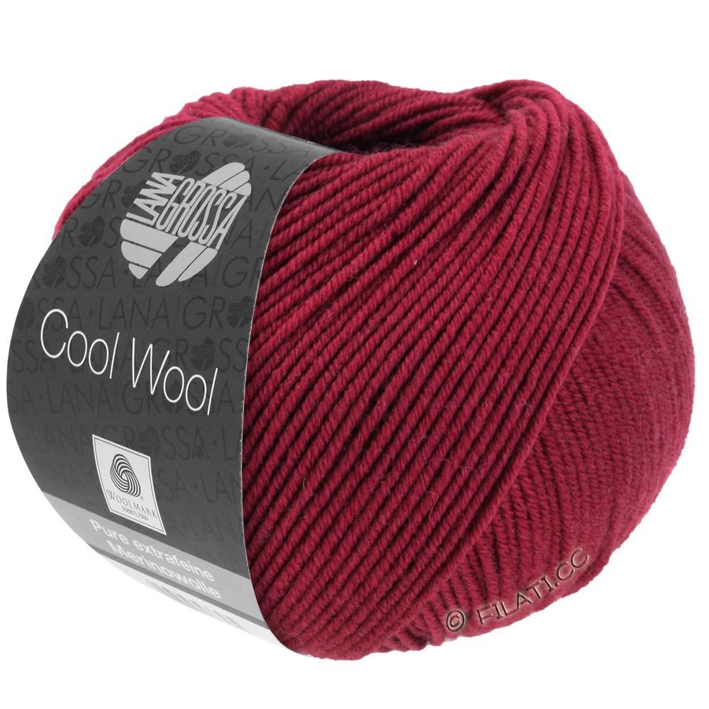 Lana Grossa COOL WOOL   Uni/Melange/Neon | 0468-Weinrot