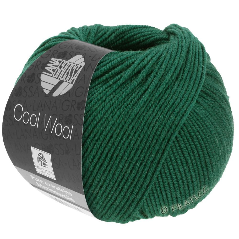 Lana Grossa COOL WOOL   Uni/Melange/Neon | 0501-Flaschengrün