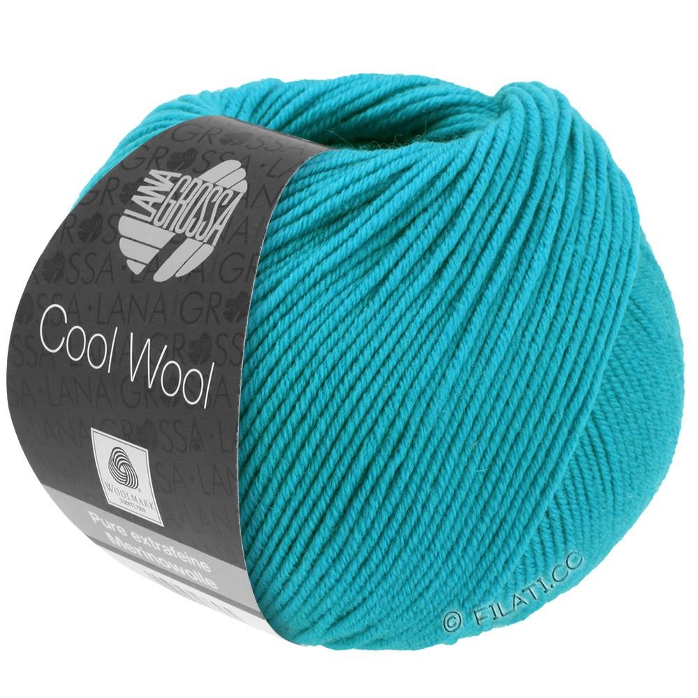 Lana Grossa COOL WOOL   Uni/Melange/Neon | 0502-Türkisblau